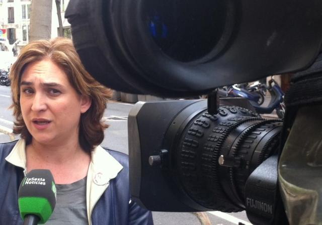 Ada Colau responde ante las cámaras de la Sexta Noticias a las afirmaciones de José Antonio Toribio.