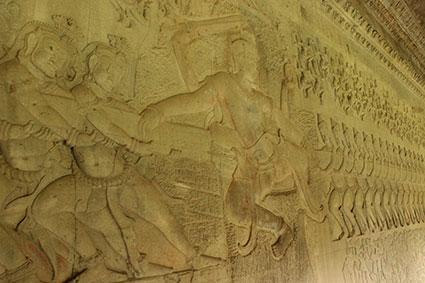 Detalle de la Batalla en la que los dos ejércitos estirando cada uno de un extremo.