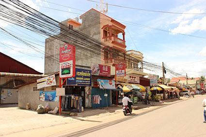 Una calle de Siem Reap (Camboya).