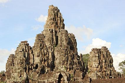Templo de Angkor Thom, en Angkor Wat (Camboya).