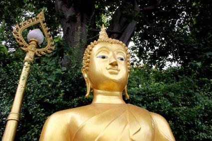 Inicio a la ascensión al Golden Mountain, en Bangkok.