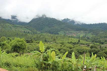 Montañas de la provincia del Mae Hong Son de camino a Pai, al norte de Tailandia.
