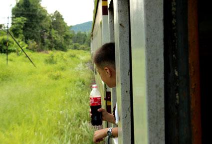 Un momento durante el viaje de Bangkok a Chiang Mai, Tailandia