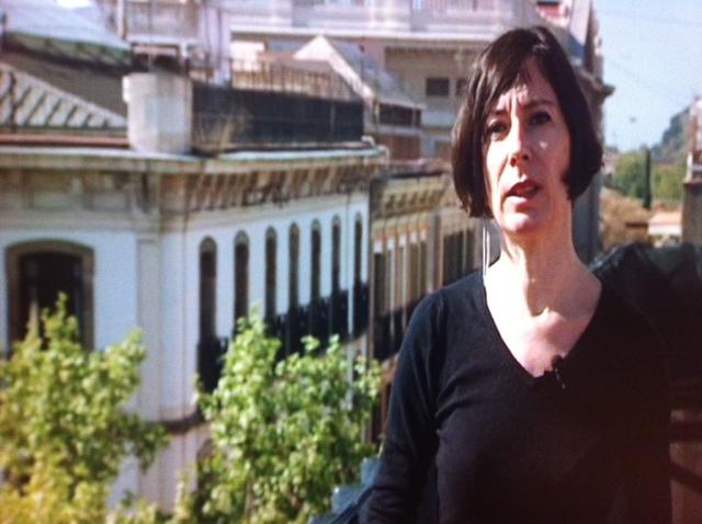 Simona Levi, desarrolladora de El Partido X, en la terraza de su domicilio.