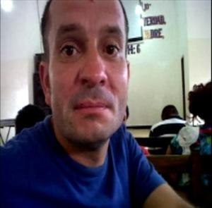 José García en la iglesia del Penal de Palmasola en Bolivia, hace unos meses.