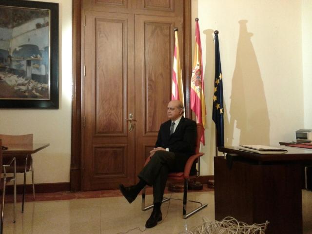 Ministro del Interior, Jorge Fernández Díaz en la Delegación del Gobierno en Catalunya.