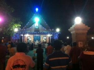 Iglesia católica en Negombo, Sri Lanka.