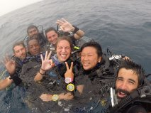 After last dive with Dive Masters Mohamed and Jinah, Maldives.
