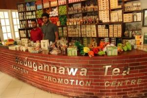 La recepción de la Kadugannawa Tea Factory, Sri Lanka.