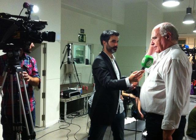LLuís Ravell, cabeza de lista de Catalunya Sí que es Pot, entrevistado por la Sexta Noticias.