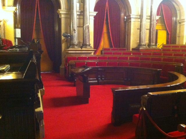 Imagen del Parlament de Catalunya vacío. Diego Sánchez