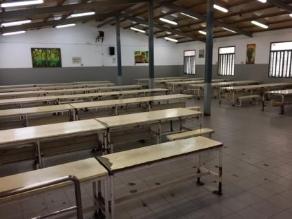Comedor de la galería 3 de la prisión de La Modelo. Diego Sánchez